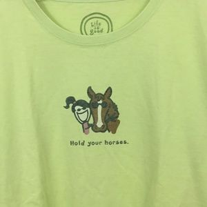 Life Is Good Tops - LIFE IS GOOD HOLD YOUR HORSES TEE
